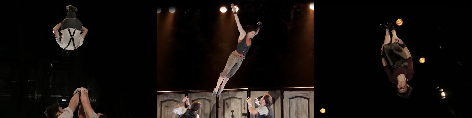 Espectacle Emportats. Companyia de circ La Trócola circ